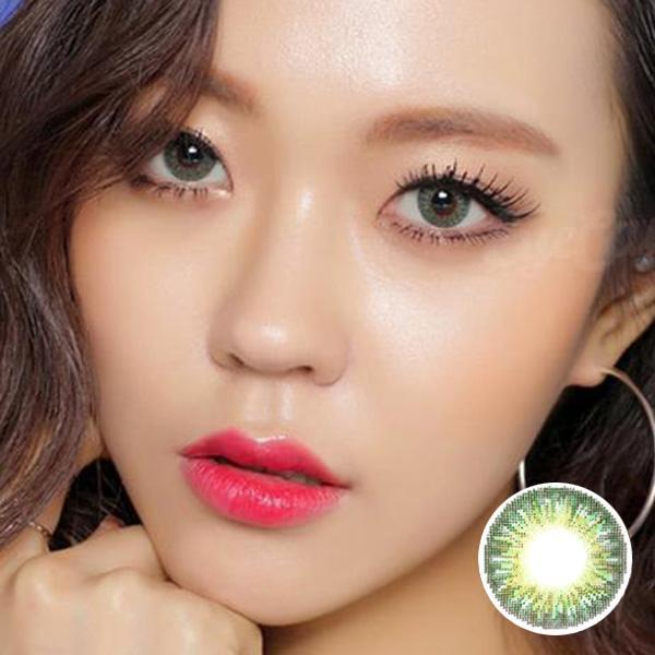 GEO Tri-Color Green - Geo Medical - Softlens Queen - Natural Colored Contact Lenses