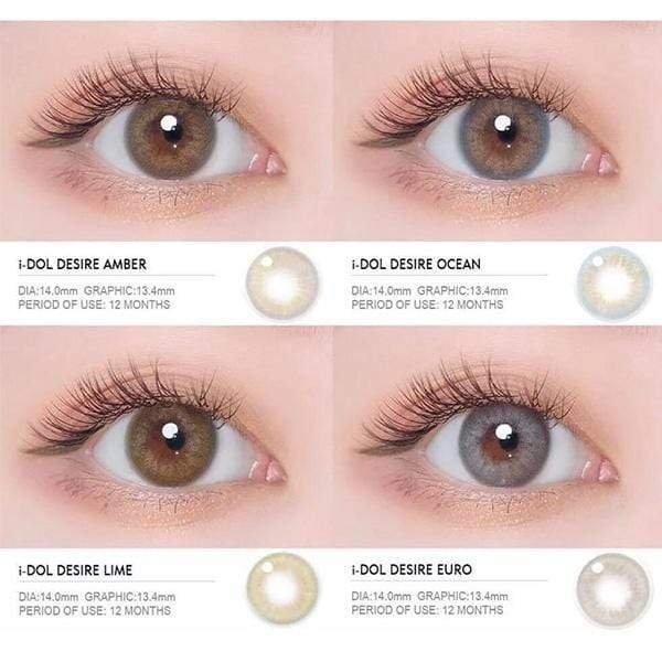 I-doll Desire Lime Green - I-doll - Softlens Queen - Natural Colored Contact Lenses