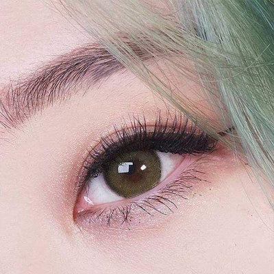 Kitty Mini Olivia Green - Kitty Kawaii - Softlens Queen - Natural Colored Contact Lenses