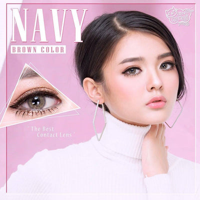 Kitty Navy Brown - Kitty Kawaii - Softlens Queen - Natural Colored Contact Lenses