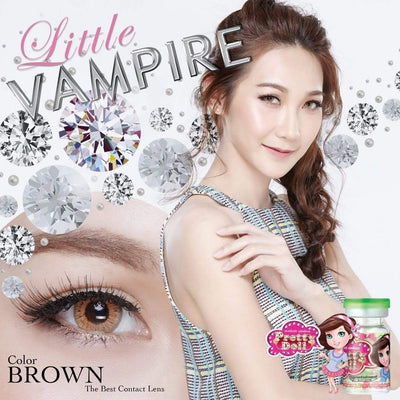 Little Vampire Brown - Pretty Doll - Softlens Queen - Natural Colored Contact Lenses