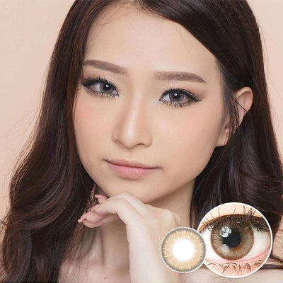 Luna Natural Almond - EOS - Softlens Queen - Natural Colored Contact Lenses