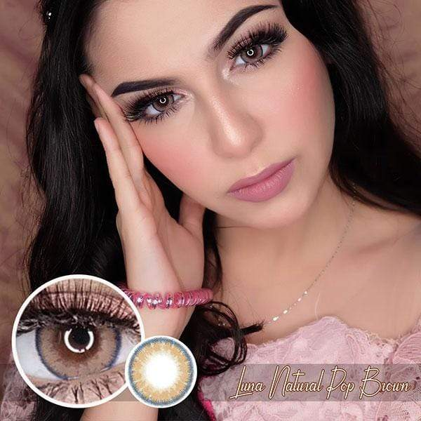 Luna Natural Pop Brown - EOS - Softlens Queen - Natural Colored Contact Lenses