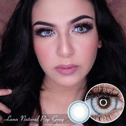 Luna Natural Pop Gray - EOS - Softlens Queen - Natural Colored Contact Lenses