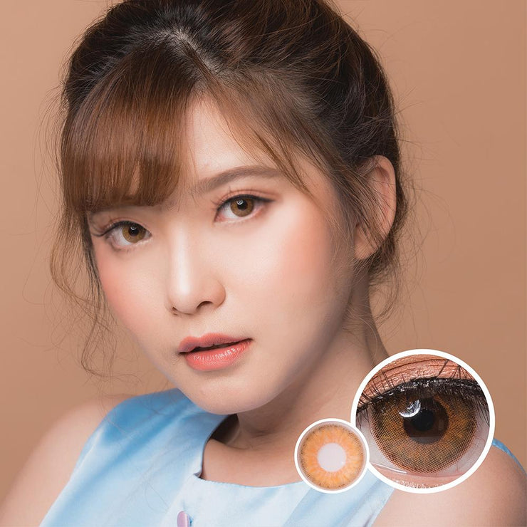 Luxzy Mini Symphony Brown - Luxzy - Softlens Queen - Natural Colored Contact Lenses