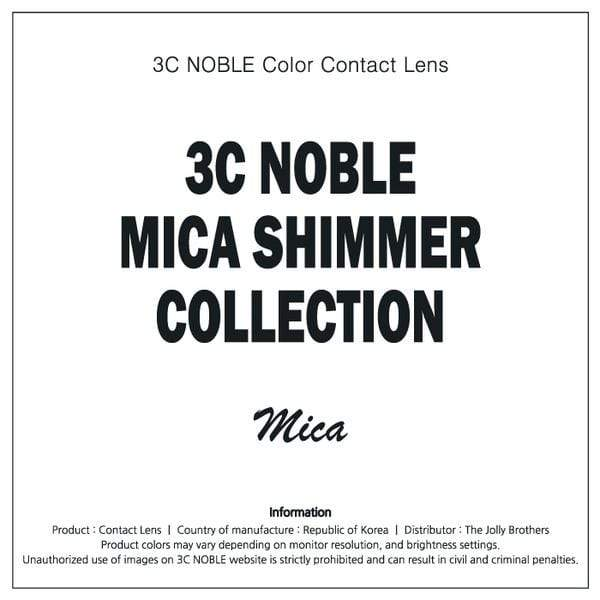 MICA Shimmer Gray - 3C Noble - Softlens Queen - Natural Colored Contact Lenses