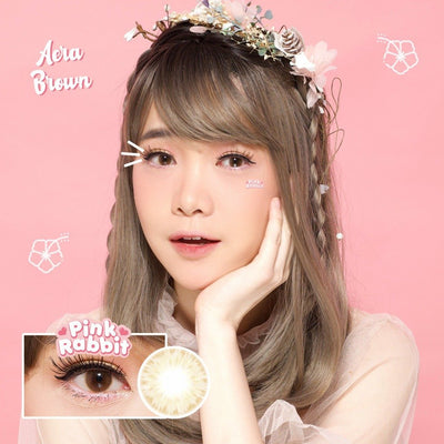 Pink Rabbit Aera Brown - Pink Rabbit - Softlens Queen - Natural Colored Contact Lenses