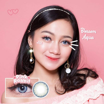 Pink Rabbit Blossom Aqua - Pink Rabbit - Softlens Queen - Natural Colored Contact Lenses