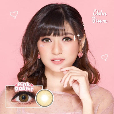 Pink Rabbit Elsha Brown - Pink Rabbit - Softlens Queen - Natural Colored Contact Lenses