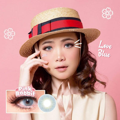 Pink Rabbit Love Blue - Pink Rabbit - Softlens Queen - Natural Colored Contact Lenses