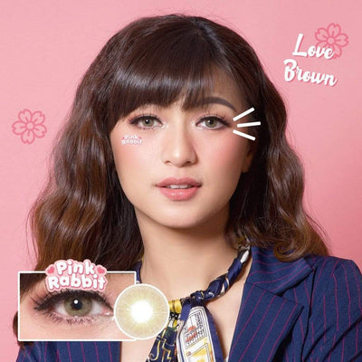 Pink Rabbit Love Brown - Pink Rabbit - Softlens Queen - Natural Colored Contact Lenses
