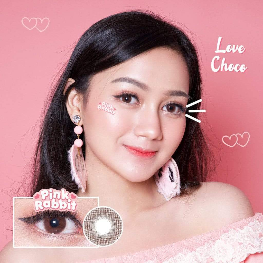 Pink Rabbit Love Choco - Pink Rabbit - Softlens Queen - Natural Colored Contact Lenses