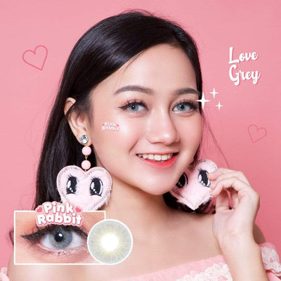 Pink Rabbit Love Gray - Pink Rabbit - Softlens Queen - Natural Colored Contact Lenses