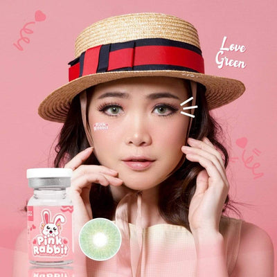 Pink Rabbit Love Green - Pink Rabbit - Softlens Queen - Natural Colored Contact Lenses