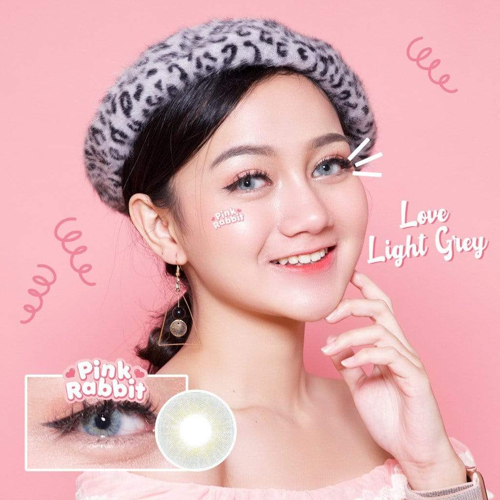 Pink Rabbit Love Light Gray - Pink Rabbit - Softlens Queen - Natural Colored Contact Lenses
