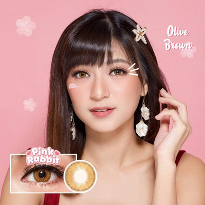 Pink Rabbit Olive Brown - Pink Rabbit - Softlens Queen - Natural Colored Contact Lenses