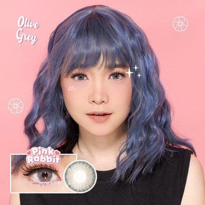 Pink Rabbit Olive Gray - Pink Rabbit - Softlens Queen - Natural Colored Contact Lenses
