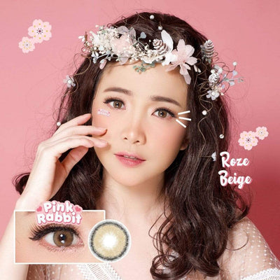Pink Rabbit Roze Beige - Pink Rabbit - Softlens Queen - Natural Colored Contact Lenses
