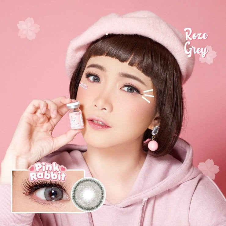 Pink Rabbit Roze Gray - Pink Rabbit - Softlens Queen - Natural Colored Contact Lenses