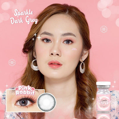 Pink Rabbit Sparkle Dark Gray - Pink Rabbit - Softlens Queen - Natural Colored Contact Lenses