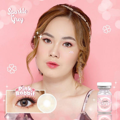 Pink Rabbit Sparkle Gray - Pink Rabbit - Softlens Queen - Natural Colored Contact Lenses