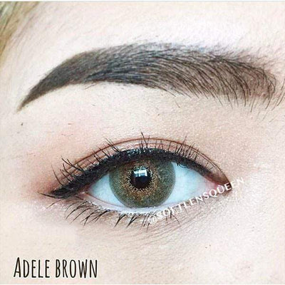 Pretty Adele Brown - Pretty Doll - Softlens Queen - Natural Colored Contact Lenses