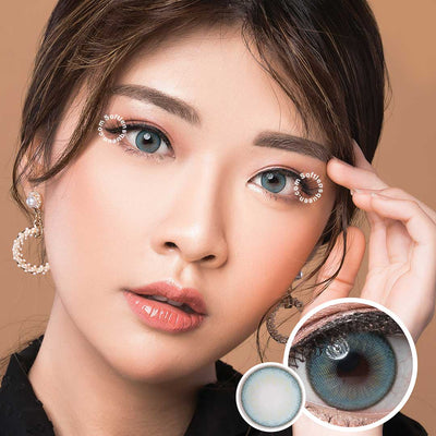 Princess Idol Seattle Marine Blue - Princess - Softlens Queen - Natural Colored Contact Lenses