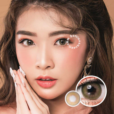 Princess Lime Green - Princess - Softlens Queen - Natural Colored Contact Lenses