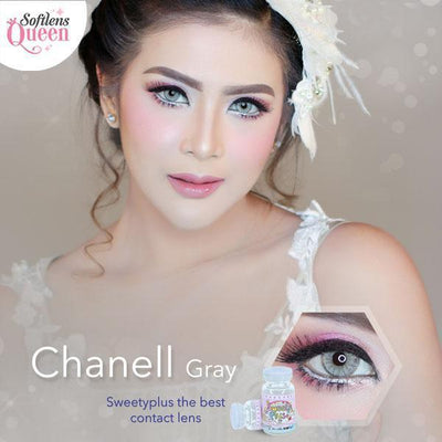Sweety Chanell Gray - Sweety Plus - Softlens Queen - Natural Colored Contact Lenses