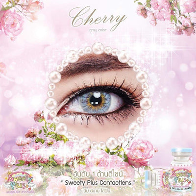 Sweety Cherry Gray - Sweety Plus - Softlens Queen - Natural Colored Contact Lenses