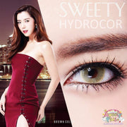 Sweety Hydrocor Brown - Sweety Plus - Softlens Queen - Natural Colored Contact Lenses