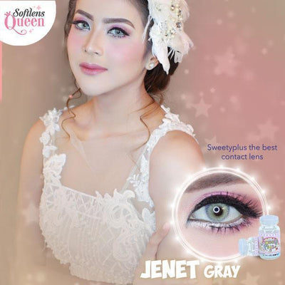 Sweety Jenet Gray - Sweety Plus - Softlens Queen - Natural Colored Contact Lenses