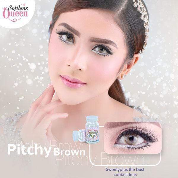 Sweety Pitchy Brown - Sweety Plus - Softlens Queen - Natural Colored Contact Lenses