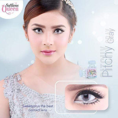 Sweety Pitchy Gray - Sweety Plus - Softlens Queen - Natural Colored Contact Lenses