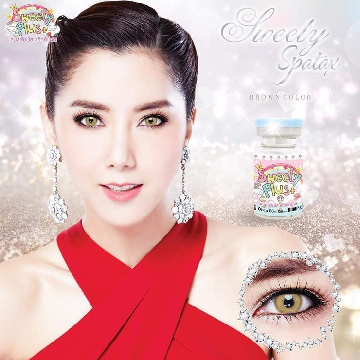 Sweety Spatax Brown - Sweety Plus - Softlens Queen - Natural Colored Contact Lenses