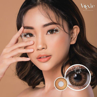 Voxie Phoenix Brown - Voxie Lens - Softlens Queen - Natural Colored Contact Lenses