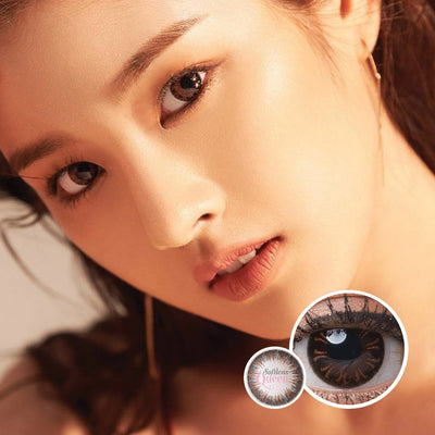 Voxie Sunset Brown - Voxie Lens - Softlens Queen - Natural Colored Contact Lenses