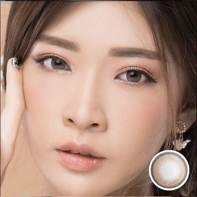 Zora Lilia Brown_ Softlens Queen_colored_contact_lens.