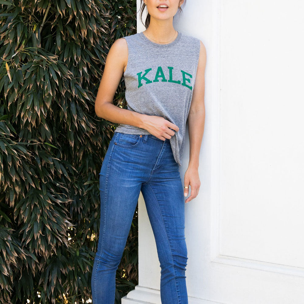 Kale Muscle Grey Tank