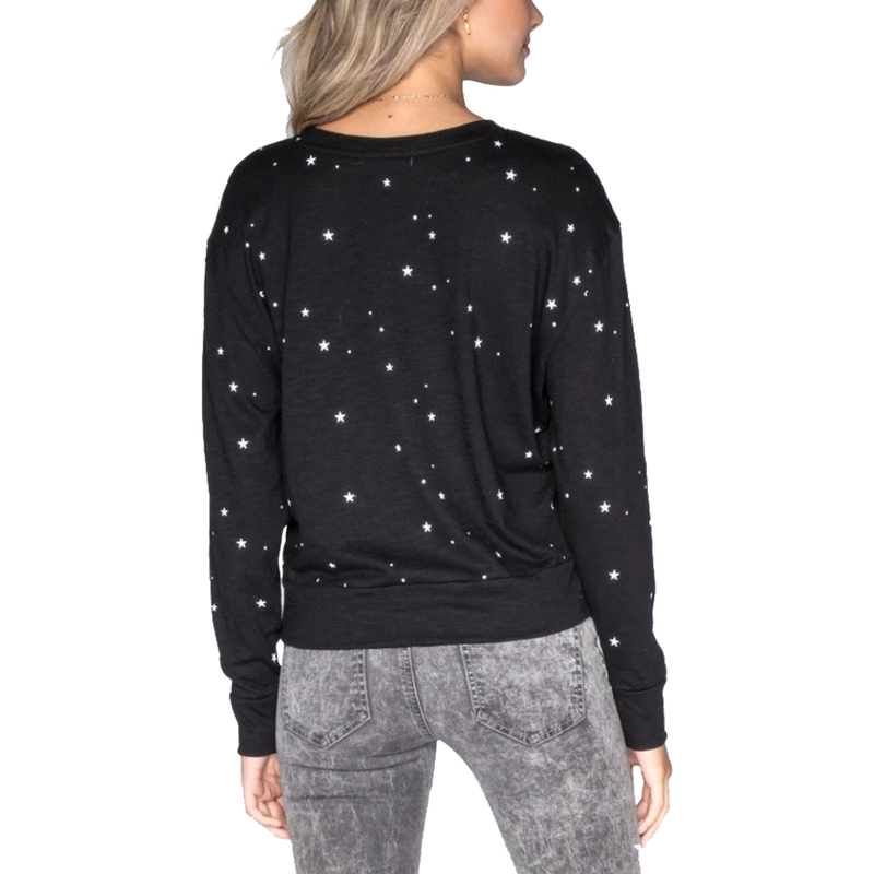All Over Stars Wide Long Sleeve T-Shirt