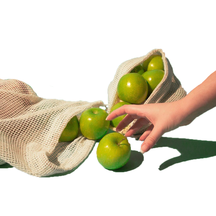 Reusable Organic Cotton Produce Bags Set