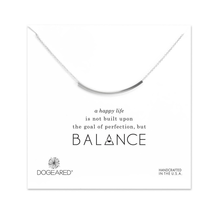 Balance Tube Bar Necklace