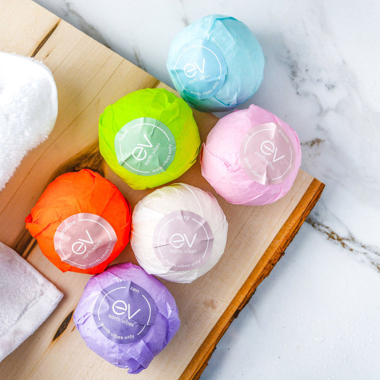Earth Vibes 6 Piece Natural Bath Bombs Set
