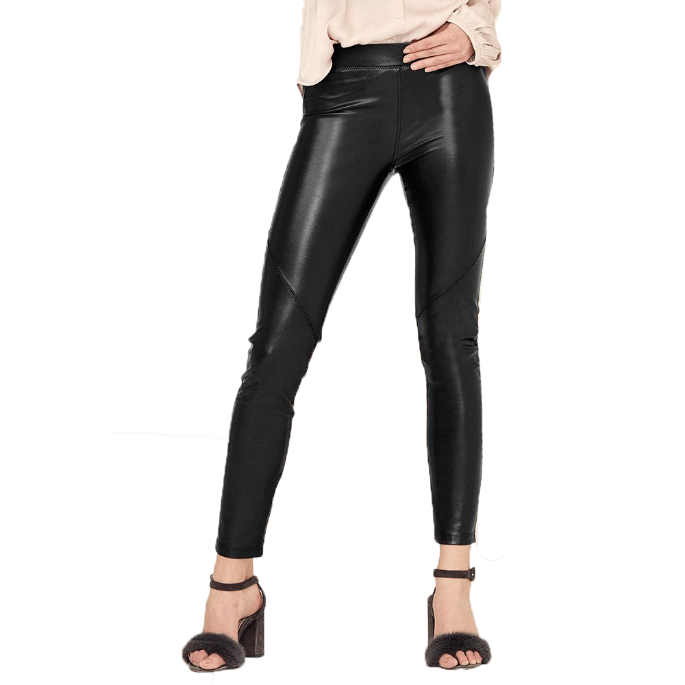 Bergen Seamed Vegan Leather Legging