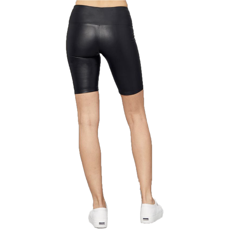 Vegan Leather Biker Short