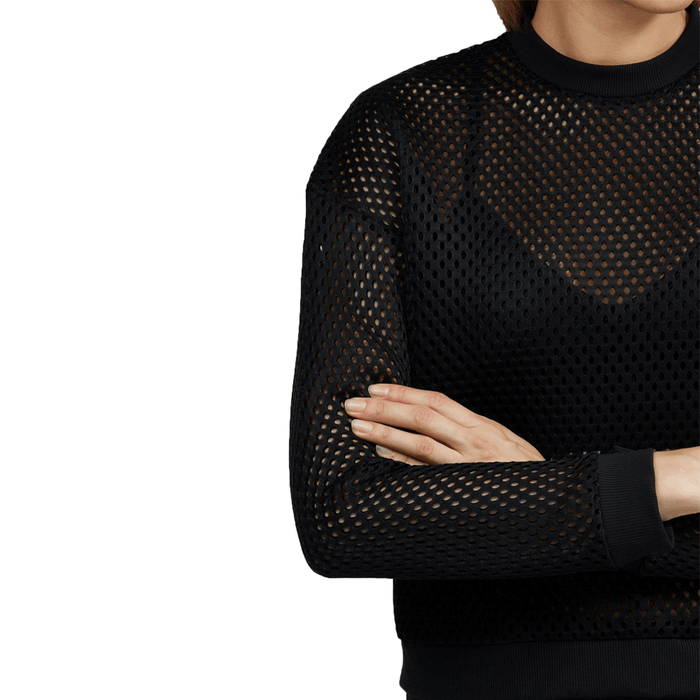 Sweatshirt | Star Mesh Black