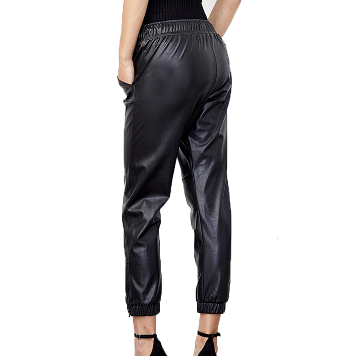 Blake Ankle Zip Vegan Leather Jogger