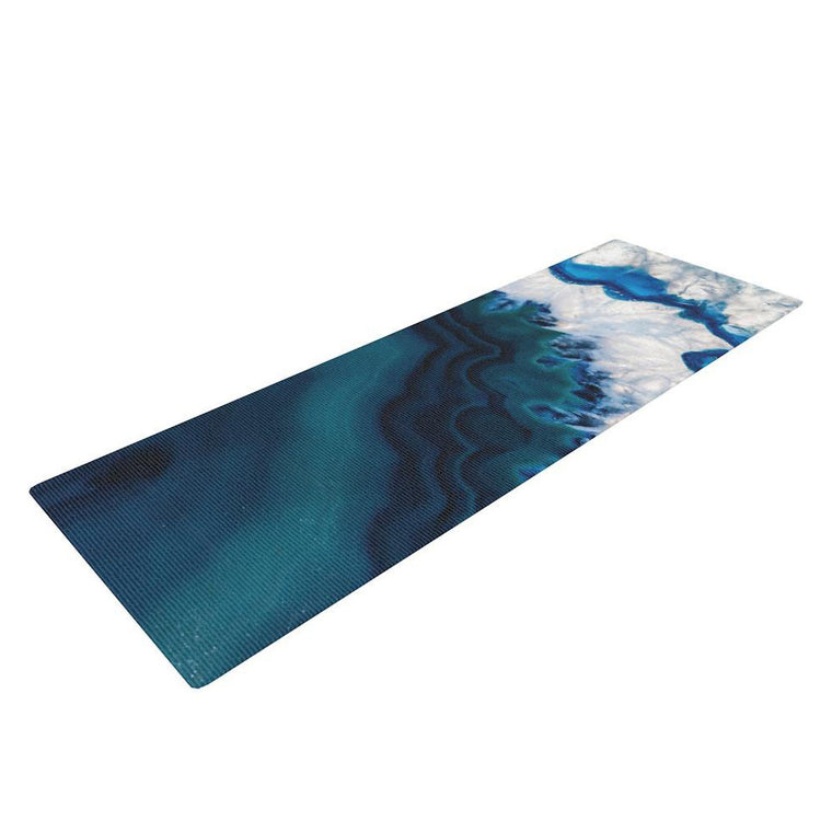 Blue Geode Yoga Mat