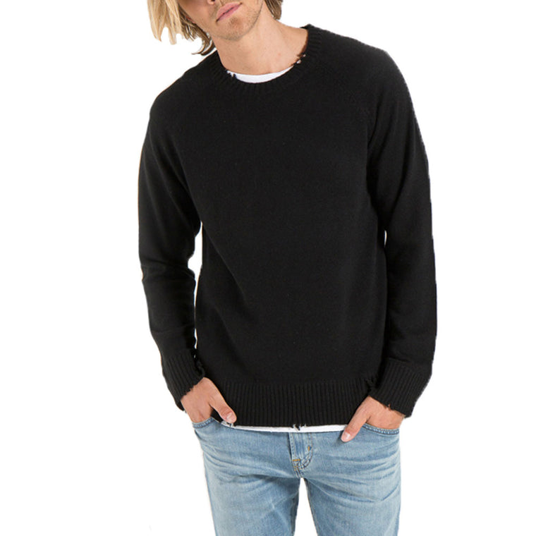 Caleb Raw Edge Cashmere Sweater