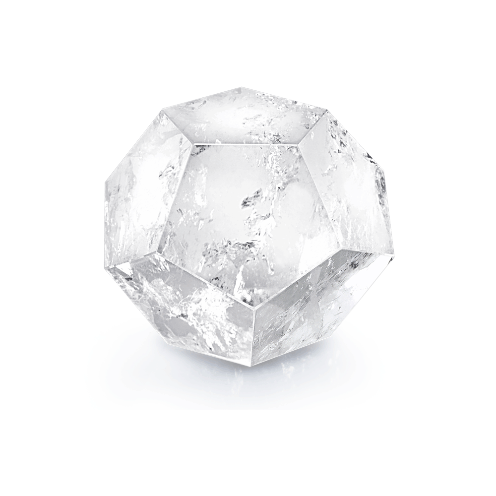 Crystal | Moody Clear Quartz Dodecahedron